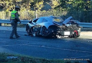 McLaren P1 crash in Dallas, Texas (Image via Wrecked Exotics)