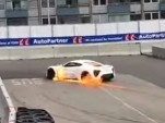 Zenvo ST1 on fire