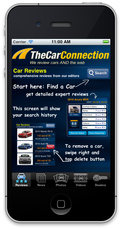 The Car Connection iphone apps