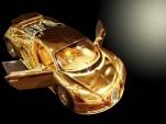 1:18th scale gold Bugatti Veyron diecast