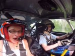 13-year-old rally driver Kalle Rovanpera scares his passenger with speed