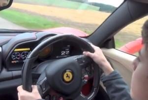 14-year-old drives dad's Ferrari 458 Italia.