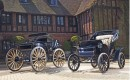 1907 Victor High Wheel Runabout (left) and 1906 Pope-Waverly Victoria Phaeton