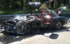 Mercedes-Benz 300SL Wrecked After Mille Miglia Crash: Video