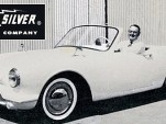 1959 Pioneer electric car prototype, with Nic-L-Silver Battery president Geroge Lippincott at wheel
