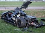 20-year-old crashes Gumpert Apollo supercar. Photo via Reuters.