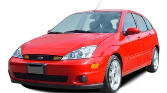2004 Ford Focus 5dr Sedan HB SVT Angular Front Exterior View