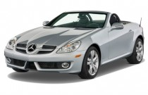 2010 Mercedes-Benz SLK Class 2-door Roadster 3.5L Angular Front Exterior View