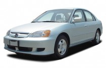 2003 Honda Civic 4-door Sedan Hybrid Manual Angular Front Exterior View