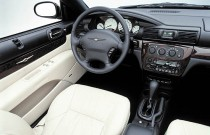 2001 Chrysler Sebring Convertible Limited interior
