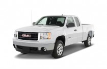 "2009 GMC Sierra 1500 2WD Ext Cab 134.0"" SLE *Ltd Avail* Angular Front Exterior View"