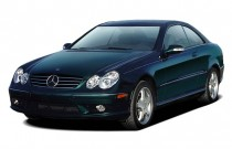 2004 Mercedes-Benz CLK Class 2-door Coupe 5.0L Angular Front Exterior View