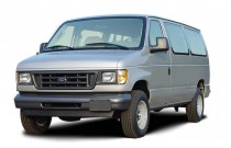 2003 Ford Econoline Wagon E-350 Super XL Angular Front Exterior View