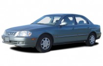 2003 Kia Optima 4-door Sedan LX Manual Angular Front Exterior View