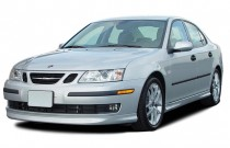 2003 Saab 9-3 4-door Sedan Vector Angular Front Exterior View