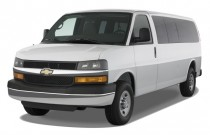 "2009 Chevrolet Express Passenger RWD 3500 155"" Angular Front Exterior View"