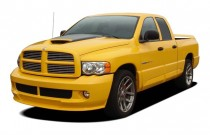 "2005 Dodge Ram SRT-10 4-door Quad Cab 140.5"" WB Angular Front Exterior View"