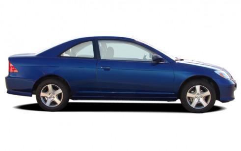 2004 Honda Civic 2 Door Coupe EX Auto Side Exterior View