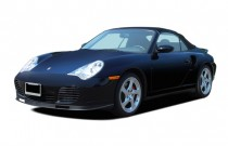 2005 Porsche 911 Carrera 2-door Turbo S Cabriolet Angular Front Exterior View