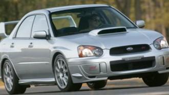 2005 Subaru Impreza Sedan (Natl) WRX STi w/Gold Wheels