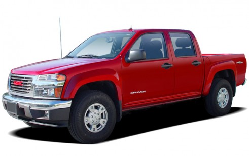 """2006 GMC Canyon Crew Cab 126.0"""" WB 2WD SLE1 Angular Front Exterior View"""