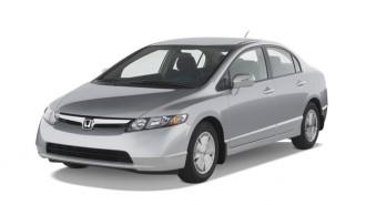 2007 Honda Civic Hybrid 4-door Sedan Angular Front Exterior View