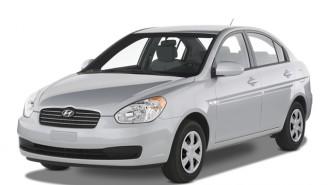 2007 Hyundai Accent 4-door Sedan Auto GLS Angular Front Exterior View