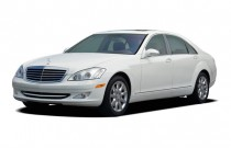 2007 Mercedes-Benz S Class 4-door Sedan 5.5L V8 RWD Angular Front Exterior View