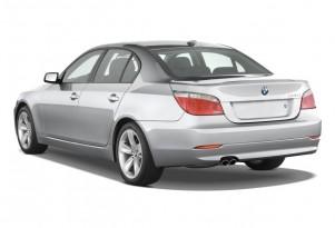2008 BMW 5-Series 4-door Sedan 528i RWD Angular Rear Exterior View