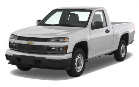 "2008 Chevrolet Colorado 2WD Reg Cab 111.2"" Work Truck Angular Front Exterior View"