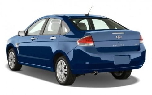 2008 Ford Focus 4-door Sedan SE Angular Rear Exterior View