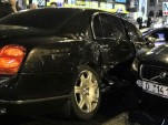 2009 Bentley Continental Flying Spur crashes in Ukraine