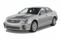 2009 Cadillac STS-V 4-door Sedan Angular Front Exterior View
