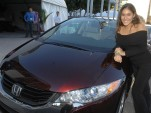 2009 Honda FCX Clarity, being delivered to 19-year-old actress Q'orianka Kilcher