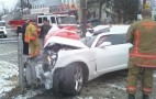 Driver Splits 2010 Camaro SS in Half and Walks Away