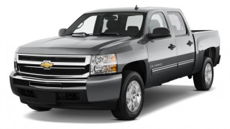 "2010 Chevrolet Silverado 1500 Hybrid 2WD Crew Cab 143.5"" 1HY Angular Front Exterior View"