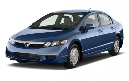 2010 Honda Civic Hybrid 4-door Sedan L4 CVT Angular Front Exterior View