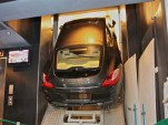 2010 Porsche Panamera in elevator in Shanghai World Financial Center