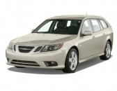 2010 Saab 9-3 4-door Wagon FWD Angular Front Exterior View