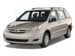 2010 Toyota Sienna 5dr 8-Pass Van CE FWD (Natl) Angular Front Exterior View