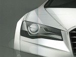 2011 Audi A8 headlight sketch