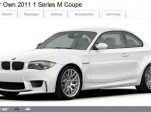 2011 BMW 1-Series M Coupe configurator