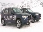 2011 BMW X3 in the snow