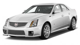 2011 Cadillac CTS-V Sedan 4-door Sedan Angular Front Exterior View