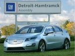 2011 Chevrolet Volt outside Detroit-Hamtramck assembly plant