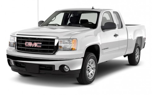"""2011 GMC Sierra 1500 2WD Ext Cab 143.5"""" SLE Angular Front Exterior View"""