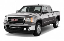 "2011 GMC Sierra 1500 Hybrid 4WD Crew Cab 143.5"" 3HB Angular Front Exterior View"