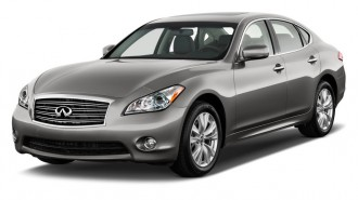 2011 Infiniti M56 4-door Sedan RWD Angular Front Exterior View