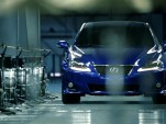 Still from the 2011 Lexus IS 'Music Track' commercial