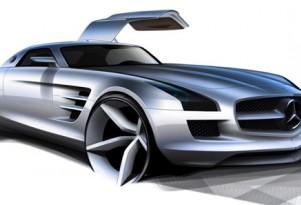 2011 Mercedes Benz SLS AMG Gullwing spy shots